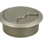 2-częściowa okrągła przelotka kablowa fi 60 mm w kolorze nikiel satyna.  Materiał: tworzywo sztuczne Kolor:nikiel satyna Wycięcie na kable: 20 x...