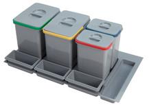 Pojemnik na odpady PRACTIKO 90 poczwórny (2x15l + 2x7l) tworzywo sztuczne  Idealne zastosowanie do szuflady kuchennej w dowolnym miejscu, umożliwia...