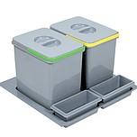 Pojemnik na odpady PRACTIKO 60 podwójny (2x15l) tworzywosztuczne  Podwójny pojemnik na odpady Practiko sprawdzi się w każdej kuchni. Idealnie...