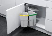 Kosz do sortowania odpadów Eko Center  Pojemność 2 x 9l Do korpusu o szerokości 40cm  Szerokość 350 mm Wysokość 525 mm Głębokość 350 mm  *...