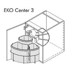 Kosz Eko Center 3 19l+12lx9l do korpusu 50cm - Würth