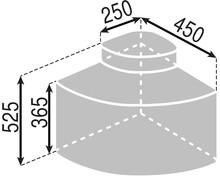 Kosz Eko Center 4 1x12l + 3x9l do korpusu 50cm - Würth