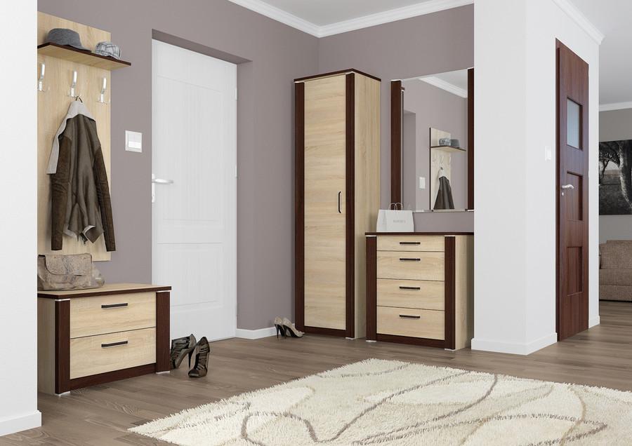 jednodrzwiowa szafa do przedpokoju ksawery 01 ml meble. Black Bedroom Furniture Sets. Home Design Ideas