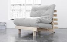 Fotel rozkładany ROOTS 90×200 - naturalny stelaż