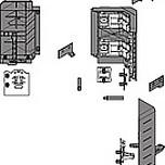 Komplet SYNCROMOTIONZ33D00E0A6do szuflady Tandembox wys. D. Kolor BIAŁY W nowym rozwiązaniu szafki narożnej SPACE CORNER z SYNCROMOTION fronty...