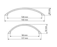 Uchwyt UT42 rozstaw 128mm Nikiel Satynowy(W) - Gamet
