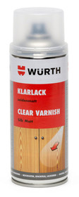 """Lakier w spray""""u - półmat. 1 sztuka  Zastosowanie: Lakierowanie powierzchni drewnianych, stosowane w celu zabezpieczenia retuszowanych i zapewnienia..."""