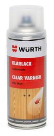 """Lakier w spray""""u - połysk. 1 sztuka  Zastosowanie: Lakierowanie powierzchnidrewnianych, stosowane w celu zabezpieczenia retuszowanych i zapewnienia..."""