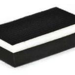 Klocek szlifierski dwustronny (mięki/twardy) idealnie nadaje się do powierzchni drewnianych. Mocowanie papieru na rzep, pozawala na wielokrotne użycie...