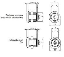 Zamek Uniwersalny X-1930 Chromowany 33mm MASTER - Siso