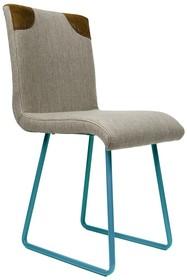 Krzesło na płozach - turkusowe