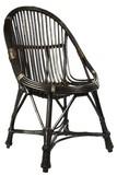 Krzesło wykonane z wikliny.  Kolor: ciemny brąz.  Wymiary: 50 cm x 55 cm x 90 cm