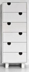 Komoda wykonana z litej sosny. Dostępna w kolorze białym lub w naturalnej sośnie. Wymiary: 40x50x130 h  UWAGA - Ze względu na ograniczenia wynikające z...