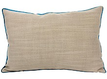 Poduszka duża z lamówką. Poszewka z zamkiem, zdejmowana.