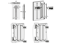 Komplet Okuć Wyrównujących Aluminiowych Do Drzwi - Hettich