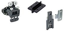 Zestaw zawiera wszystkie niezbędne elementy do 1 drzwi składanych 2-skrzydłowych Wysokość drzwi max. 900 mm Element jezdny do szybkiego montażu Profil...