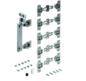 Zestaw zawiera wszystkie niezbędne elementy do 1 drzwi składanych 2-skrzydłowych z montażem po lewej stronie Profile jezdne należy zamówić oddzielnie...