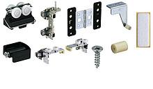 Zestaw zawiera wszystkie niezbędne elementy do 1 drzwi składanych 2-skrzydłowych Elementy systemu należy zamówić oddzielnie Wskazówka: szerokość w...