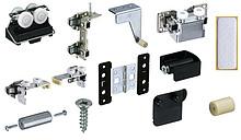 Zestaw zawiera wszystkie niezbędne elementy do 1 drzwi składanych 4-skrzydłowych Elementy systemu należy zamówić oddzielnie Wskazówka: szerokość...