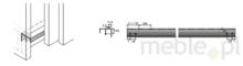 Systemy drzwi przesuwnych Hettich TopLine L - Zestaw Z Profili STB 11 Przed Wieńcem Górnym 4000 mm - Hettich