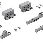 TopLine L - Zestaw Silent System - amortyzacja prowadzenia z montażem na wieńcu górnym.  Dodatkowe wspomaganie amortyzacji w dolnej części szafy...
