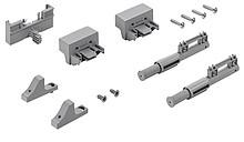 TopLine L - Zestaw Silent System - amortyzacja prowadzenia  Dodatkowe wspomaganie amortyzacji w dolnej części szafy Zoptymalizowany, liniowy ruch...