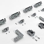InLine XL Pomoce Montażowe Do Systemów Przesuwnych o rozmiarze drzwi 750-2000  Dodatkowe okucie montażowe Do niewidocznego mocowania profilu w szafach...