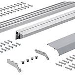 TopLine XL Zestaw profili do szafy przesuwnej 1 lub 2 drzwiowej o długości 300 cm.  Profil jezdny, prowadzący i zakrywający w jednym opakowaniu Profile...