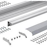 TopLine XL zestaw profili wzmocnionych do szafy 1, 2 oraz 3 drzwiowej o długości 300 cm.  Profil jezdny, prowadzący i zakrywający w jednym...