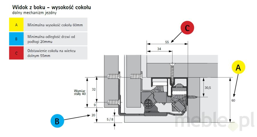 Topline Xl Zestaw Profili Do Szafy 123 Drzwiowej 300 Cm