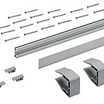 SlideLine M, Profil do płyty 18 o długości 2500 mm w kolorze srebrnym  Zestaw pojedynczego profilu do zastosowania, jako uzupełnienie w rozwiązaniach z...
