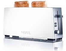 Toster z długimi szczelinami na 2 tosty Funkcja przycisku zatrzymania Rozmrażanie - osobny przycisk Pokrętło sterowania z funkcją click-click, 6 krokach...