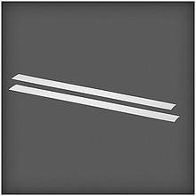 ELFA Maskownica szyny poziomejBL gl. 425 mm, wys. 47 mm, szer. 1 mm (2 szt.) w kolorze Białym  Wykonana z tworzywa sztucznego, nadaje...