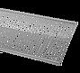 ELFA PÓŁKA AŻUROWA   w kolorze Platinum o wym. szer. 1212 mm, gł. 305 mm  WYKONANA Z GRUBEJMETALOWEJSIATKI DOSTĘPNA...