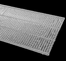 ELFA PÓŁKA AŻUROWA w kolorze Platinum o wym. szer. 607 mm, gł. 494 mm  WYKONANA Z GRUBEJMETALOWEJSIATKI DOSTĘPNA...