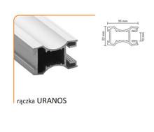 Rączka URANOS 10/M (Profil) do drzwi przesuwnych wykonanych z płyty o grubości 10 mm lub szkła grubości 4 mm ( przy użyciu uszczelki ).  Linia Medium...