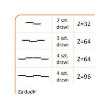 Rączka URANOS 10/M Do Drzwi Przesuwnych Srebrna dł.270 cm - Aluprofil