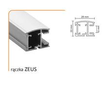 Prowadnice do drzwi Rączka ZEUS 10/M Do Drzwi Przesuwnych Srebrna dł.270 cm - Aluprofil