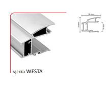 Rączka WESTA 18/P (Profil) do drzwi przesuwnych lub składanych wykonanych z płyty o grubości 18 mm.  Rączka WESTAwystępuje również do drzwi...
