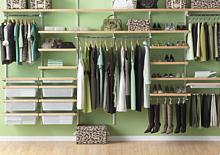 Zestaw: Regał wiszący z półkami na buty do garderoby Elfa Classic           ...