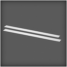 ELFA Maskownica szyny poziomejBL dł. 876 mm, wys. 47 mm, gł. 1 mm (2 szt.) w kolorze białym  Wykonana z tworzywa sztucznego, nadaje estetyczny...