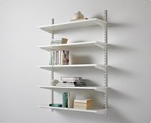 Zestaw: Regał z półkami pełnymi do kuchni Classic kolor Biały