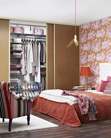 Zestaw: Garderoba w sypialni Elfa Classic kolor Platinum
