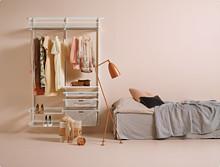 Zestaw: Mała garderoba Elfa Classic       w kolorze Białym  Elfa: Indywidualne rozwiązania dla każdego......