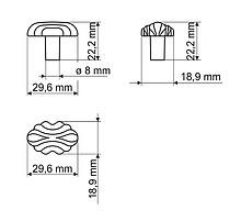 Gałka GR41 nikiel patynowany(W) - Gamet