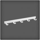 WIESZAK BOCZNY 40- 5 HACZYKÓW     w kolorze Białym (system Classic) WYMIARY: GŁ. 417 mm, SZER. 47 mm, WYS. 36 mm WYKONANY ZE STALI...