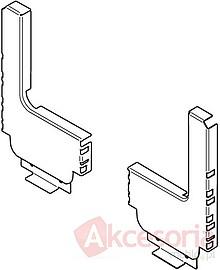 Z30D120S.6S Stalowa ścianka tylna w kształcie litery L. Do szuflady zlewozmywakowej systemu TANDEMBOX Intivo wysokość: 183 mm Wymiary zabudowy w korpusie:...