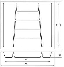 Wkład Na Sztućce Do Szer.60cm Głęb.50cm SREBRNY TWARDY gr.2.5mm - Würth
