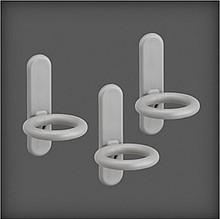 Haczyk organizatora okrągły 3 szt. w systemie Elfa Utility        w kolorze Platinum Wykonana ze...