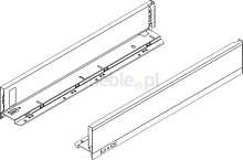 Komplet boków 770M do szuflady LEGRABOX Kolor:Brunatnoczarny Wysokość boku szuflady:M=90,3mm Wymiar zabudowy 106mm Długość:550mm...